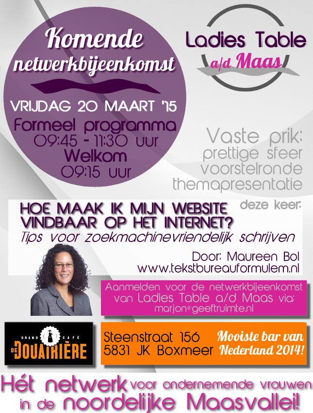 Poster Ladiestable aan de Maas