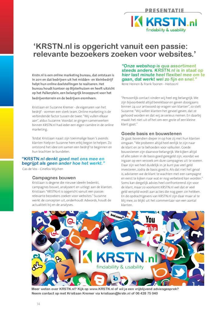 Artikel over KRSTN online in Wijchen Zakenvisie