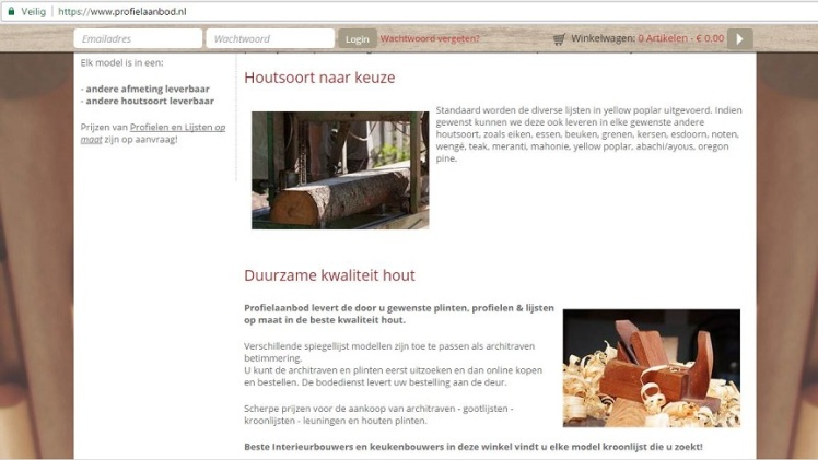 Website Profielaanbod