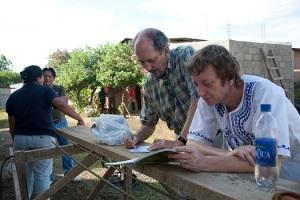 Monic aan het werk in Nicaragua