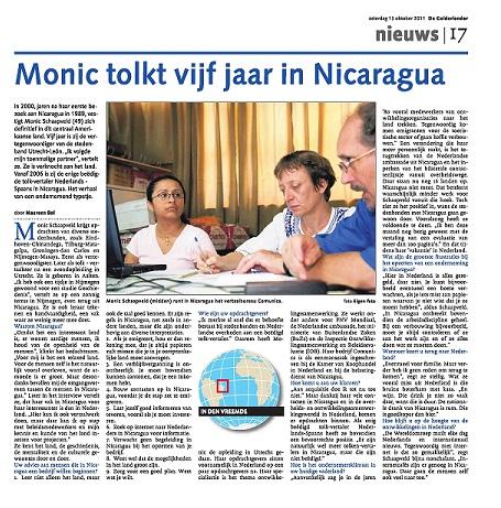Monic Schaapveld Nicaragua