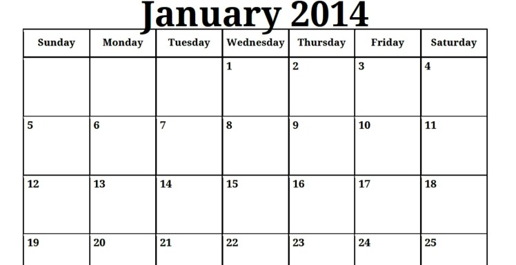 January-2014-Kalender