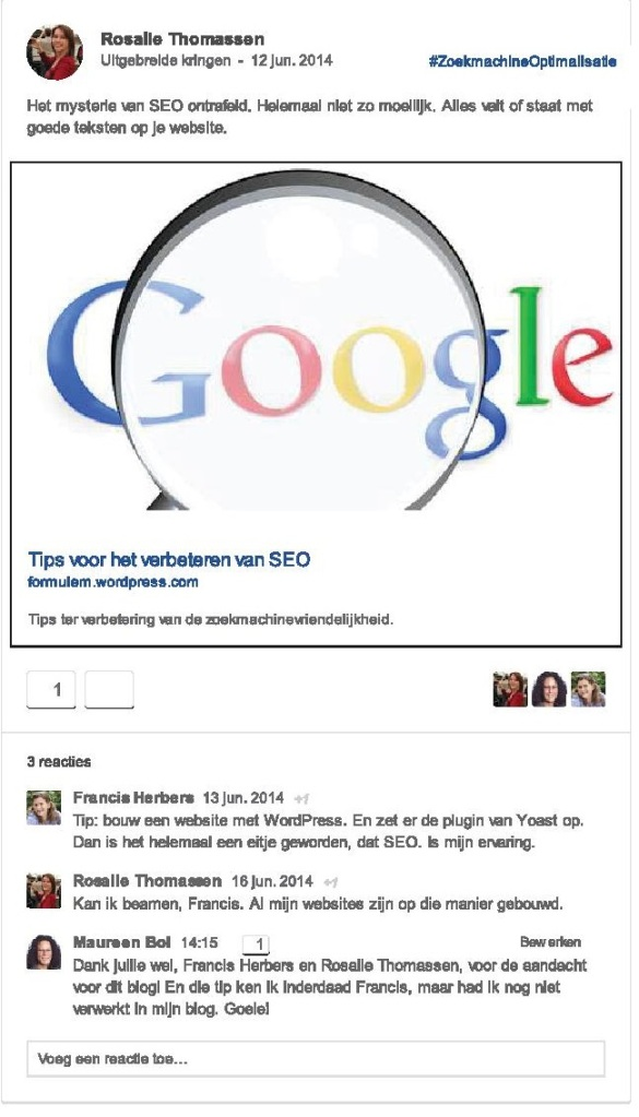 Googleplus discussie