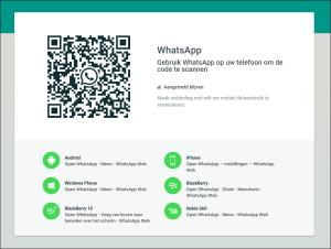 WhatsApp op groot scherm installeren
