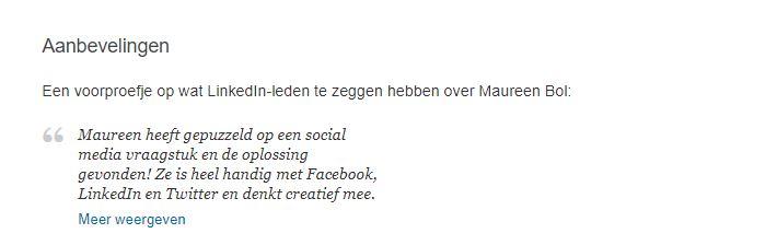 aanbeveling sociale media