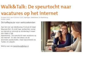 Walk en Talk Bibliotheek Nijmegen