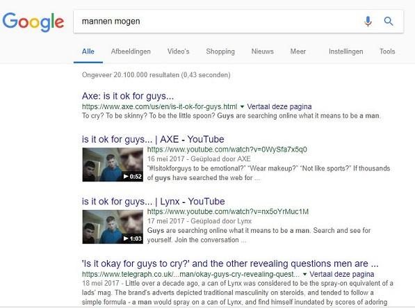 Google Mannen Mogen...
