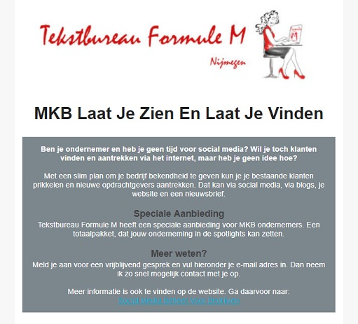 Aanbod Social Media Beheer MKB