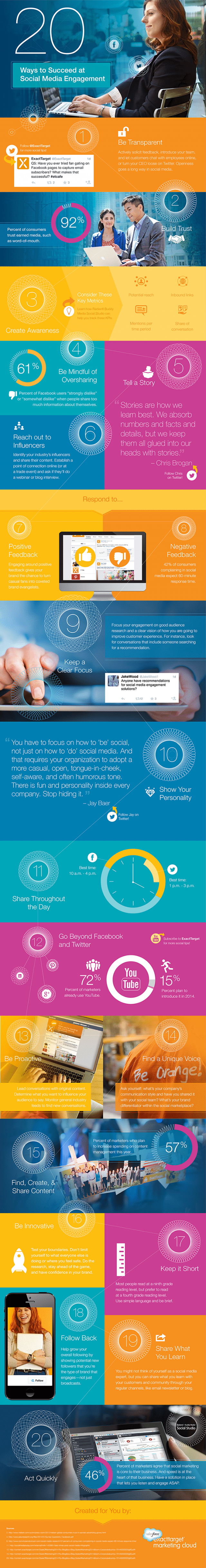 infographic tips social media engagement