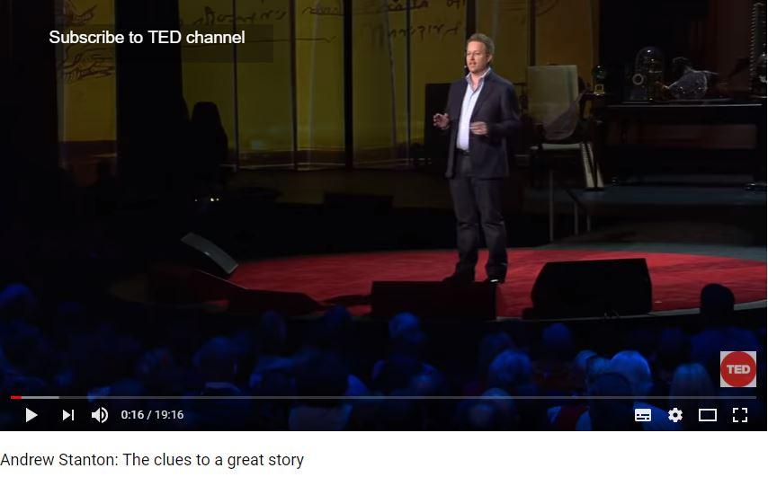 Andrew Stanton over storytelling, films en Pixar.