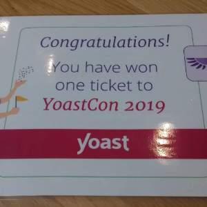 YoastCon 2019 gewonnen