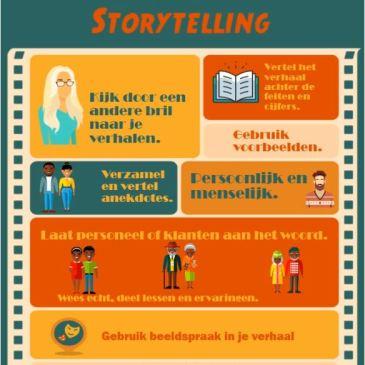 Infographic met tips voor storytelling