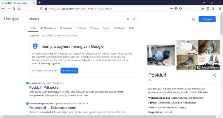 Google Postduif