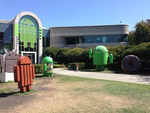 Android gebouw in Googleplex
