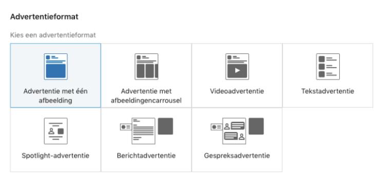 LinkedIn advertentie formaten